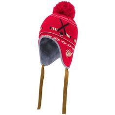 Detroit-Red-Wings-NHL-Vintage-Throwback-Laplander-Toque-Knit-Pom-Beanie-Hat-Cap