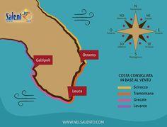 Una mappa-tutorial per scegliere il #mare giusto in #Salento in base al #vento del giorno - http://larep.it/1FYtxeN