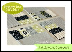 Patchwork Coasters | A Spoonful of Sugar
