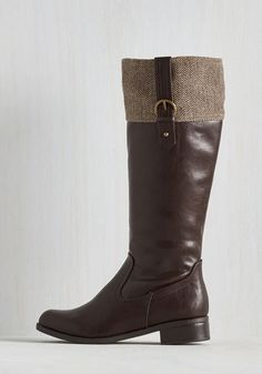 Trek Together Boot in Herringbone | Mod Retro Vintage Boots | ModCloth.com