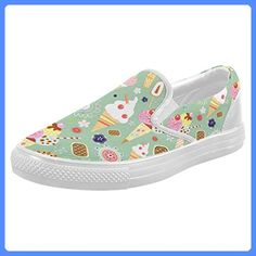 InterestPrint Ice Cream Casual Slip-on Canvas Women's Fashion Sneakers Shoes