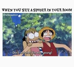 Read from the story Poze amuzante ANIME by LigiaOlivia (Ѽ l e m o n s Ѽ) with reads. Cand vezi un paianjen la. One Piece Meme, One Piece Funny, Funny Naruto Memes, Funny Memes, Hilarious, Video Game Books, Otaku Issues, One Piece Pictures, 0ne Piece