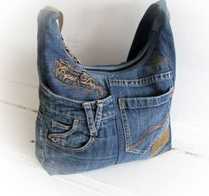 Jeans bolso bolso Denim Messenger bag Pathwork bolso bandolera