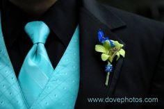 Possible color for tuxes & bridesmaid dresses!!! match the Blue Dendrobium Orchid