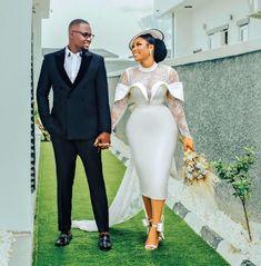 African Dresses Men, African Wedding Dress, Latest African Fashion Dresses, Civil Wedding Dresses, Wedding Dress Sleeves, Wedding Gowns, Dinner Gowns, Short Bride, Lace Dress Styles