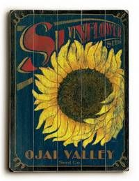 sunflower vintage sign
