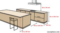 In order your kitchen to be adequate circulation to perform a good job (Kitchen: Ergonomics & Circulation), here are some measures that can be used Kitchen Dinning, Kitchen Sets, Home Decor Kitchen, Kitchen Interior, Home Kitchens, Kitchen Design, Architecture Details, Interior Architecture, Interior Design