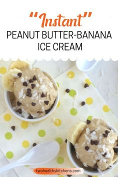 This crazy-delicious, luxuriously creamy Peanut Butter-Banana Ice Cream has everything going for it! It's no-churn and ready in just 5 minutes (tops!). Plus, it's full of nutritious ingredients and… Peanut Butter Banana, Creamy Peanut Butter, Frozen Desserts, Summer Desserts, Healthy Ice Cream, Banana Ice Cream, Kitchen Recipes, Favorite Recipes, Treats