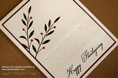 Learn how to use an embossing folder to create an elegant border! To watch the video, visit www.stamptv.com.