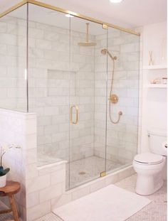 Inspiration - Shower frame gold detail.