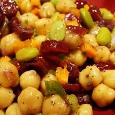 Vegetarian Cranberry Chickpea Salad curried chickpeas, cranberry salad ...