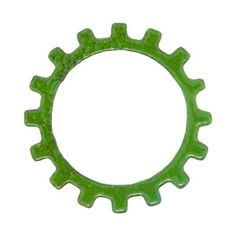 Green gears would look lovely hanging from ears.