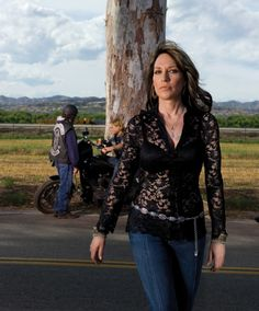 Gemma (katey sagal) I can't love her enough-her character on SOA  is so badass and she takes NO shit from anyone; every woman needs to take a lesson from her sometimes in their life.  Katey Sagal is so perfect to play her.  I Love her