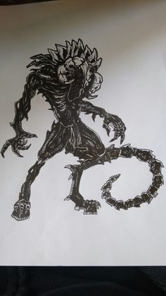 Black alien giger satan by los disegno a china