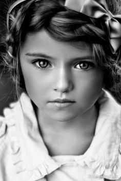 Beautiful Baby Girl in Black and White. This picture is breathtaking!
