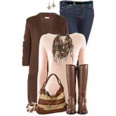 Boots and Cardigan