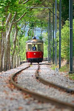 Portugal ~~ 'Electric Sintra' tram resuming its original route between the town of Sintra and Praia das Apples and between the Sierra and the Sea. The Municipality of Sintra called for proper use of this ex-libris of Sintra as historical heritage that must be preserved and bequeath, in full, to future generations. The circulation of 'Electric Sintra' began on July 10, 1904, and spans over 12 kilometers.