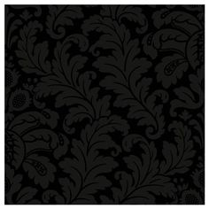 York Wallcoverings Traditional Damask Wallpaper in Black and Grey... ($45) ❤ liked on Polyvore