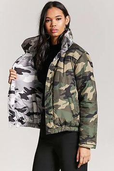 4233d27a0b9a4 Jackets & Outerwear. Outerwear JacketsPuffer JacketsCamo PrintLatest  TrendsMilitary JacketForever 21WindbreakerRain ...