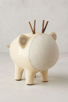 // ceramic critter piggy bank /