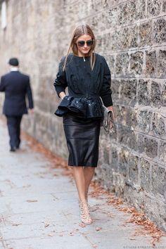 Olivia Palermo in all black
