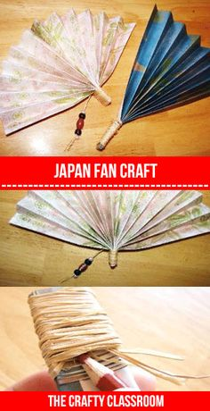 Fan Craft  Chelle -  I was thinking you could do a class on Raffia (made from palms) and then they could make this fan and you could also do a little about special wrappings for gifts using raffia.