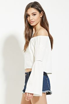 Floral-Embroidered Crop Top | Forever 21