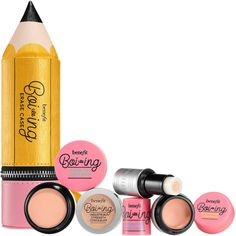 Shop Benefit's Boi-ing Erase Case at Sephora. This concealer kit features four boi-ing concealers. Mini Makeup, Makeup Case, Makeup Sets, Color Correcting Concealer, Covering Dark Circles, Travel Size Toiletries, Benzoic Acid, Perfume, Makeup Products