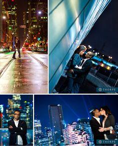 night engagement shoot toronto city lights