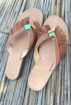 Handmade sandals made in Greece Greek fashion boho by KatiNeo