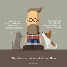 The difference between and (apologies in advance to Cat owners - of… You And I, Love You, Scrabble, Dog Cat, Family Guy, Relationship, Pets, Instagram Posts, Fictional Characters