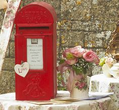 wedding post box / wishing well Theres a whole lot of creative fun you could have with your gift table...