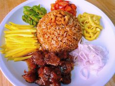 Food Wanderings in Asia: Shrimp Paste Fried Rice with Green Mangoes