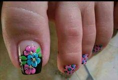 Madre Pedicure Designs, Toe Nail Designs, Gel Nails, Acrylic Nails, Summer Toe Nails, Beautiful Toes, Toe Nail Art, Nails Inspiration, Cute Nails