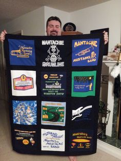 T Shirt Memory Quilts made by Shelley using my T Shirt Quilt Kit
