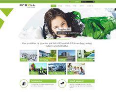 Slik ser nettsiden til Proxll ut. De har valgt å bruke Idium Wordpress.