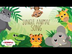 Wild Animal songs for kids: preschool, pre-k, kindergarten. Use while teaching a. Jungle Theme Activities, Preschool Jungle, Preschool Craft Activities, Animal Activities For Kids, Animal Crafts For Kids, Preschool Songs, Animals For Kids, Music Activities, Rainforest Song