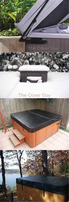 Spa and Hot Tub Covers 181074 Spa Cover Hot Tub Cover (Exterior - jacuzzi exterior