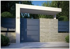 11 designs of porches so that the entrance of your house looks great. Modern and elegant! porches modern looks house great entrance designs House Gate Design, Door Gate Design, Front Gates, Entrance Gates, Modern Fence Design, Modern Gates, Modern Entry, Tor Design, Modern Minimalist House