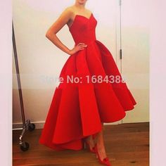 Evening Gown Long Red Ball Gown Evening Dress 2015 Real Sample Sweetheart Satin Formal Evening Gowns Short Front Long Back Prom Evening Dress Gorgeous Evening Dresses From Weddingpalace, $58.64| Dhgate.Com