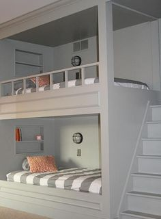 More use of proper steps to the bed, could put a seating area underneath?