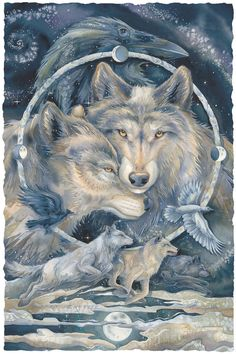 Bergsma Gallery Press :: Paintings :: Nature :: Wild Land Animals :: Wolves and Wild Dogs :: In Spirit... I Am Free - Prints