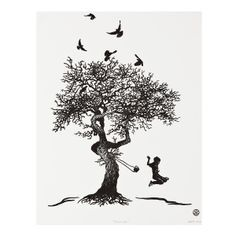Tree black and white tattoo clip art trendy Ideas Lake Tattoo, Tattoo Art, Rustic Christmas Tree Stands, Wooden Tree Swing, Swing Tattoo, Palm Tree Tattoo Ankle, Blossom Tree Tattoo, Black And White Painting, Black White