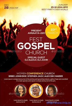 Charming Gospel Fest Church Flyer   Party Flyer Templates For Clubs Business U0026  Marketing