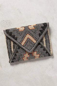 Seismic Beaded Clutch. Inspiration for a granny square clutch.