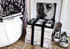 DIY magazine holder via fashionsquad.com