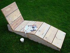Relaxstoel/ligstoel van steigerhout