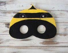 Bumble Bee Mask, Honey Bee, Bug Mask - Kids, Felt Mask - Costume - Dress Up - Halloween - Imaginative Play