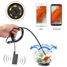 [$19.96] 2.0MP HD Camera 30m Wireless Distance Metal WiFi Box Waterproof IPX67 Endoscope Snake Tube Inspection Camera with 6 LED for Android & iOS, Length: 1m, Lens Diameter: 9mm(Black)