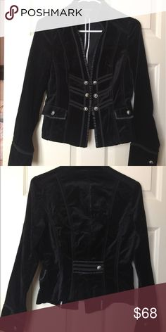 Gorgeous Black Blazer with silver detail🖤 Fitted blazer!  This is a must have for winter!!! White House Black Market Jackets & Coats Blazers